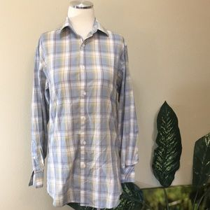 Plaid men's shirt by HAGGAR, neck size 15